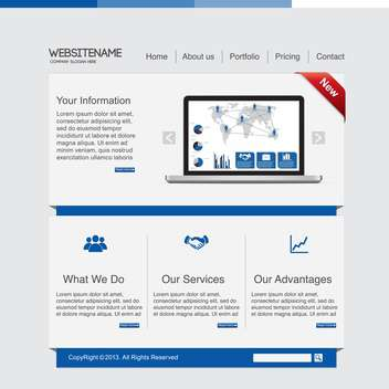 abstract business website template - vector gratuit #134039