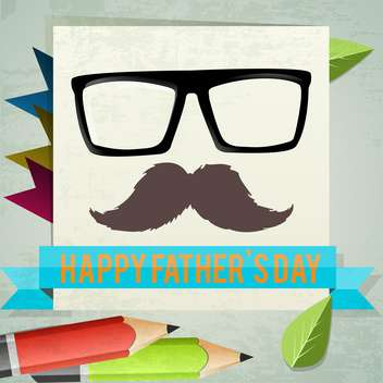happy father's day card - бесплатный vector #134189