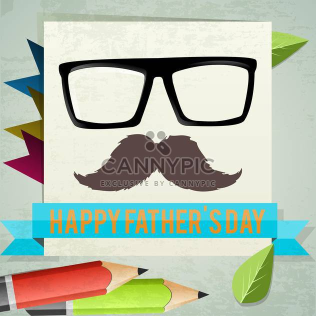 happy father's day card - Free vector #134189