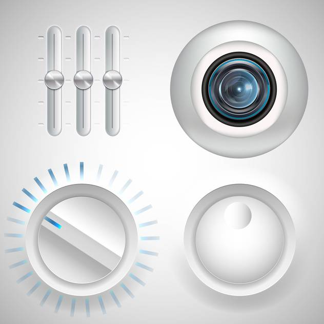 twister, fader and webcam eye media set - vector #134199 gratis