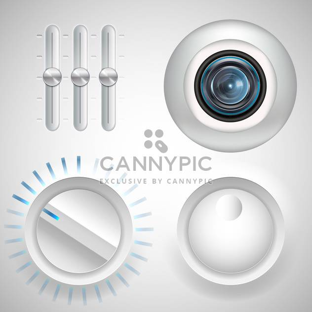 twister, fader and webcam eye media set - Free vector #134199