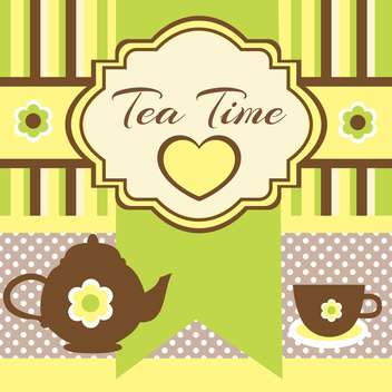 tea party vintage background - vector gratuit #134239