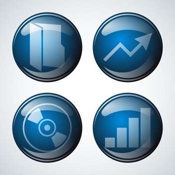 abstract business icon set - vector gratuit #134259