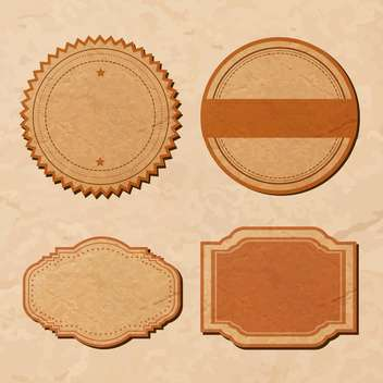 vector set with vintage labels - vector gratuit #134279