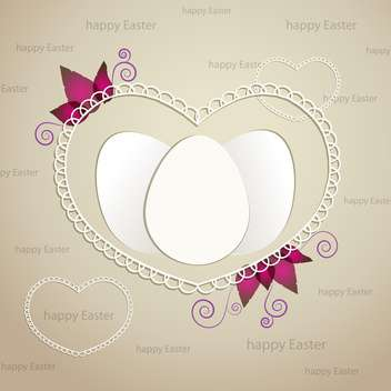 easter greeting frame with eggs - vector gratuit #134329