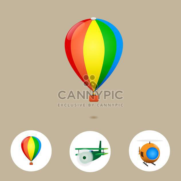 air travel vacation background - Free vector #134339