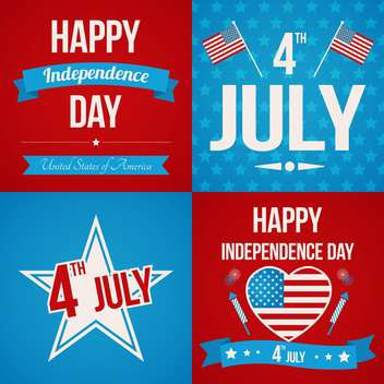 usa independence day posters set - vector gratuit #134369