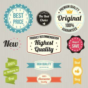 vintage sale signs set - vector gratuit #134379