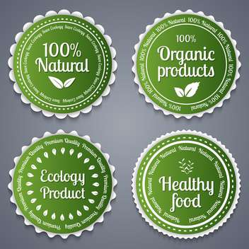 healthy food labels background - vector gratuit #134449