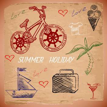 summer holiday vacation background - vector gratuit #134479