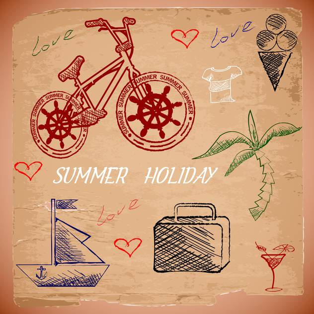 summer holiday vacation background - Free vector #134479