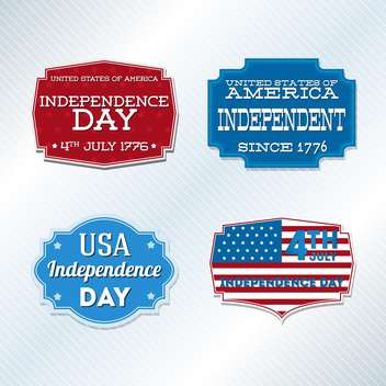 usa independence day symbols - vector #134509 gratis