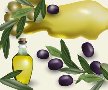ripe olive oil bottle background - бесплатный vector #134549