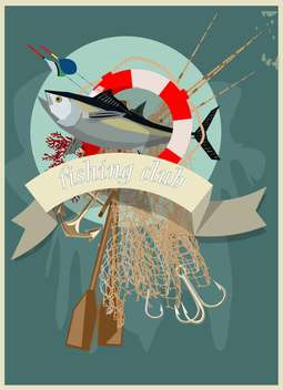 fishing club accesoires illustration - vector #134559 gratis