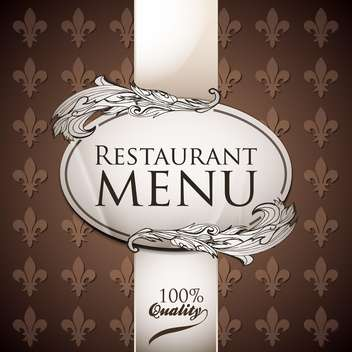 vector template for restaurant menu - vector #134579 gratis