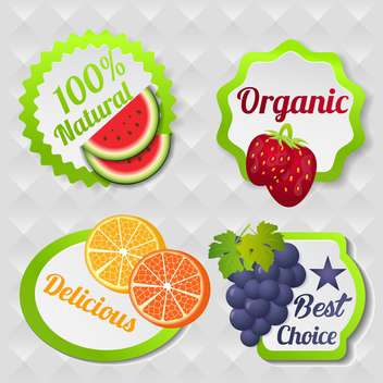 organic food poster background - бесплатный vector #134599