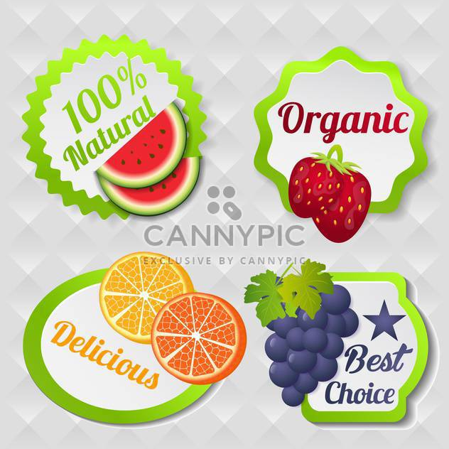 organic food poster background - Free vector #134599