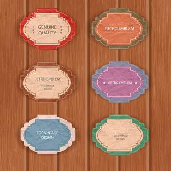 set of graphic vector labels - vector #134619 gratis
