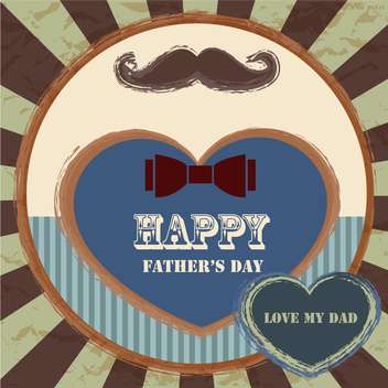 happy fathers day vintage card - vector gratuit #134659