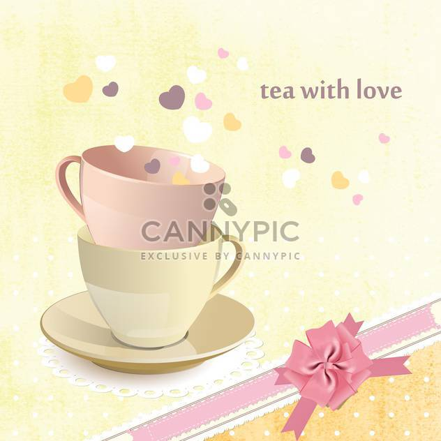 tea love postcard background - Free vector #134669