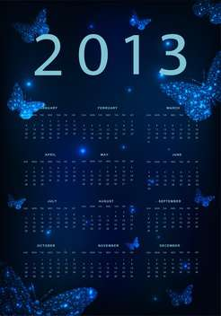 year calendar vector background - vector #134699 gratis