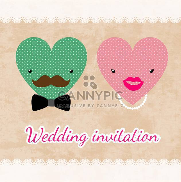 wedding invitation card template - Free vector #134729