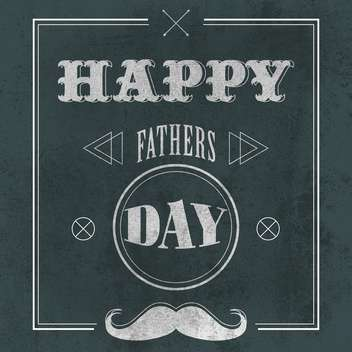 father's day on grey background - vector gratuit #134739