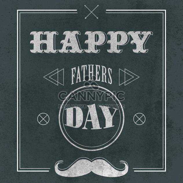 father's day on grey background - Free vector #134739