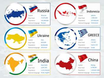world countries vector flags - vector gratuit #134759