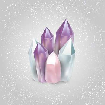 beautiful luxury crystals vector illustration - vector gratuit #134799
