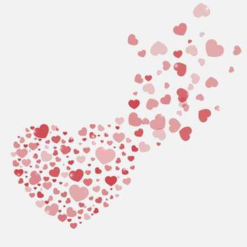 vector background with Valentine's day hearts - vector gratuit #134819