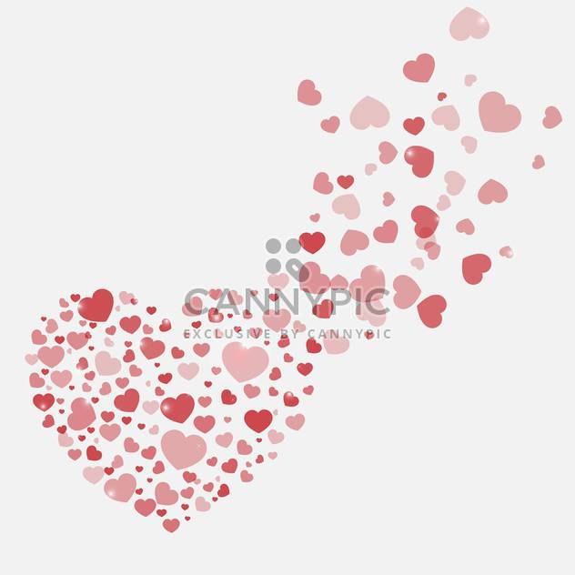 vector background with Valentine's day hearts - Free vector #134819