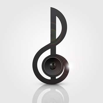 vector abstract treble clef with speaker - vector #134829 gratis