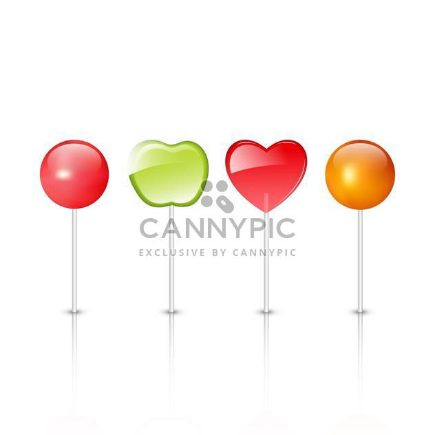 red, yellow and green lollipops illustration - бесплатный vector #134859