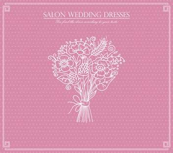 salon wedding dresses card background - vector #135029 gratis