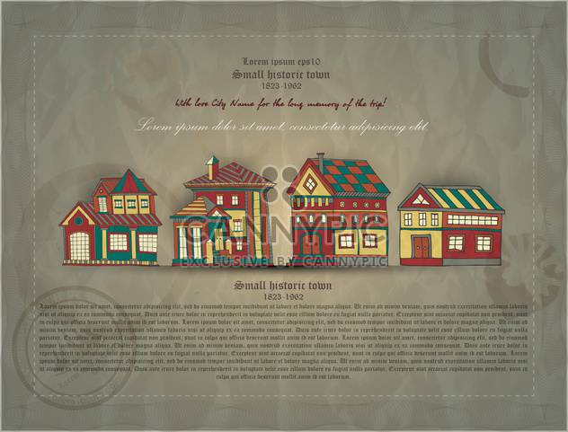 retro document of small historic town - Free vector #135129