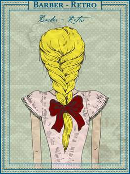 vector drawing of beautiful girl hairstyle - бесплатный vector #135189
