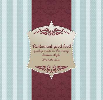 restaurant menu vector design background - vector gratuit #135219