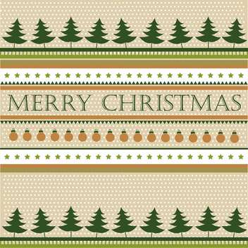 Retro christmas holiday background with fir trees - vector gratuit #135299