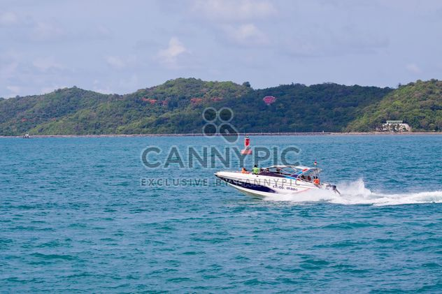 People in speed boat - Free image #136299