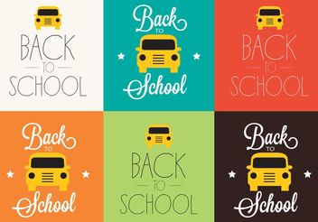 Back to School Backgrounds - vector gratuit #138659
