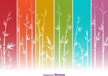 Colourful Bamboo Vector Backgrounds - vector gratuit #138709