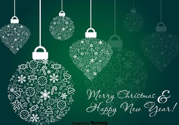 Green Christmas Ornament Vector - vector #138719 gratis