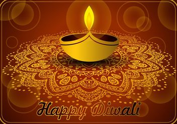 Happy Diwali Vector - vector gratuit #138739