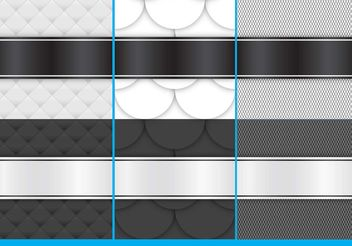 Black And White Fabric Backgrounds - бесплатный vector #138759