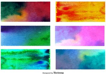 Watercolored Backgrounds - Free vector #138769