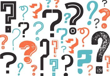 Question Mark Background in Vector - vector gratuit #138839