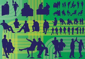 Business People Vectors - vector gratuit #138899
