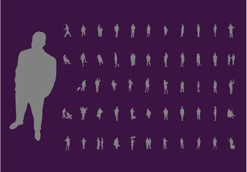 Active People Silhouettes - vector #138929 gratis