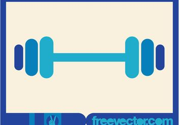 Blue Dumbbell Icon - Free vector #138999